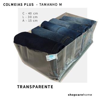 Kit com 3 colmeias PLUS transparente - TAMANHO M