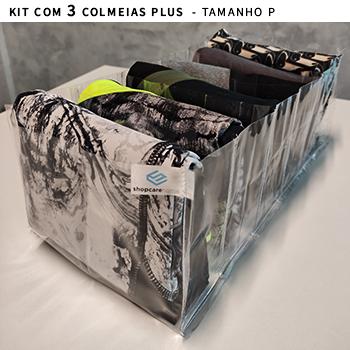 Kit com 3 colmeias PLUS transparente - Tamanho P