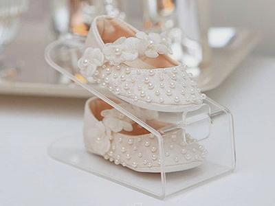 Organizador de sapatos Cristal Acrílico Baby - Kit 4 unidades
