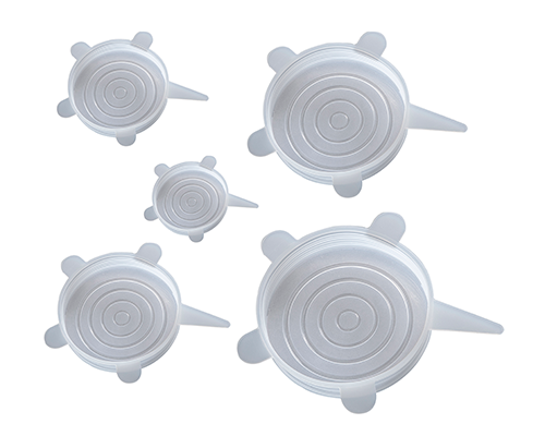 Kit com 5 tampas de silicone hermetic