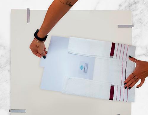 Kit Gabarito para dobras de roupas Fixel - 4 peças