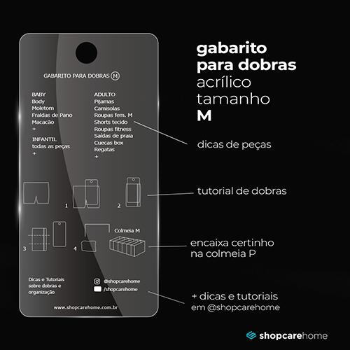 Kit Gabaritos para dobras Acrílico + Colmeias organizadoras - P, M, G e GG