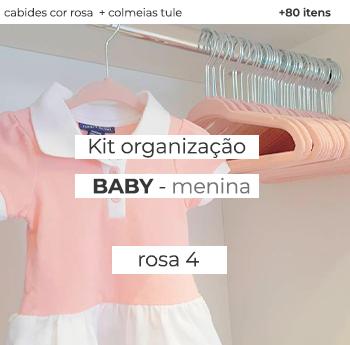 Kit Organização Baby - Mod. Rosa 4