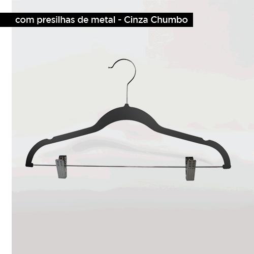 KIT Organização Closet cor Cinza - com + de 100 unidades de cabides