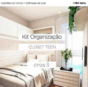 Kit Organização Closet Teen - Nude 3