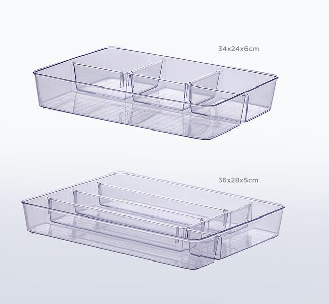 Kit Organizadores c/ divisórias - 2 peças