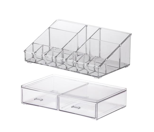 Kit Organizadores de Cosméticos - 2 peças