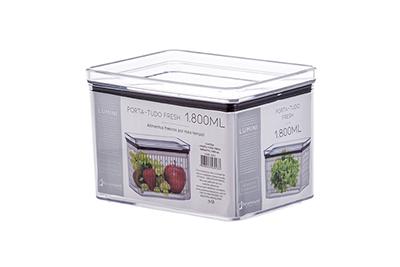 Potes porta tudo hermetic 1.800ml - Kit 2 unidades
