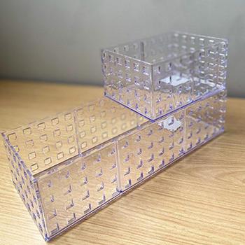 Organizado empilhável Quadratta 32x11,5x8cm