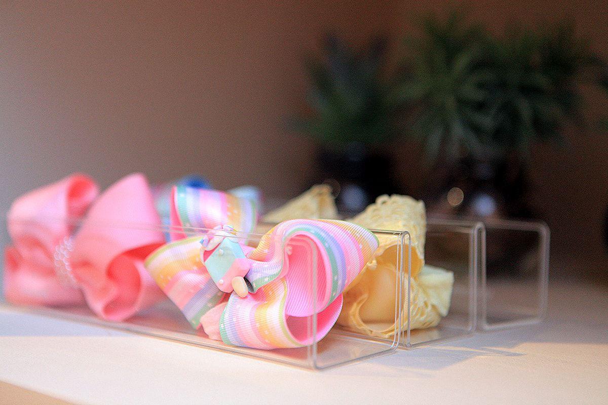 Organizador de laços/sapatinhos - Cristal Acrílico