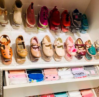 Organizador de Sapatos Cristal Acrílico Baby - Kit 10 unidades