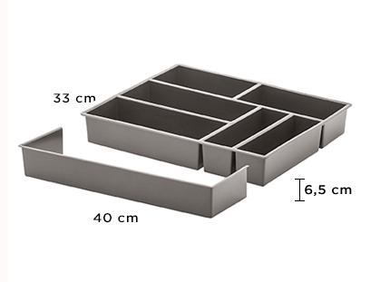 Organizador de talheres c/ extensor 40x33x6,5 cm - 1362