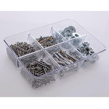 Organizador diamond c/ 6 divisórias 25x18x6 cm - 904