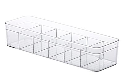 Organizador Diamond c/ divisórias 35,5x10,5x7,5cm - Colmeia de Acrílico