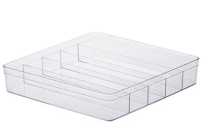 Organizador Diamond c/ divisórias - 36,5x36,5x7,5cm