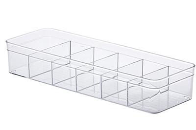 Organizador diamond c/ divisórias - 40,5x13,5x7,5 cm