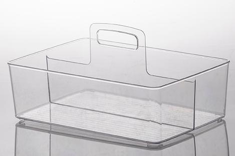 Organizador diamond com alça 33 x 22 x 18 cm cristal