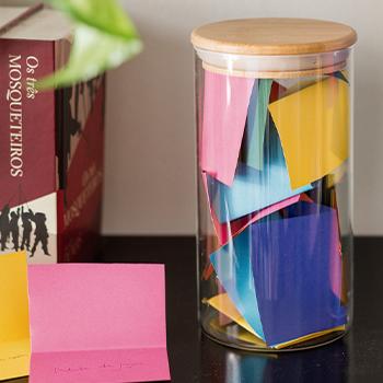 Pote de vidro com tampa de bambu - 1100 ml - hermético - não passa ar