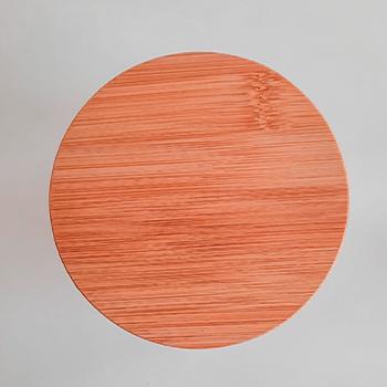 Pote de vidro com tampa de bambu - 500 ml - hermético - não passa ar