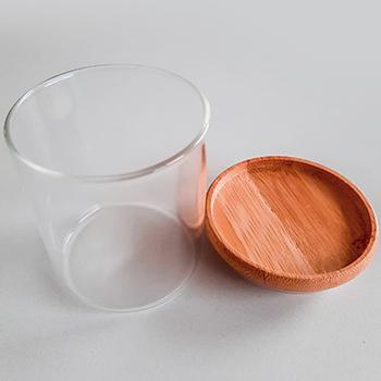 Pote hermético empilhável com tampa de bambu - 200 ml - não passa ar