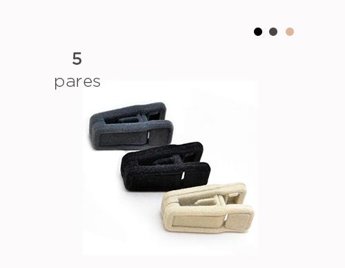 Presilha de veludo - Kit com 10 unidades (5 pares)