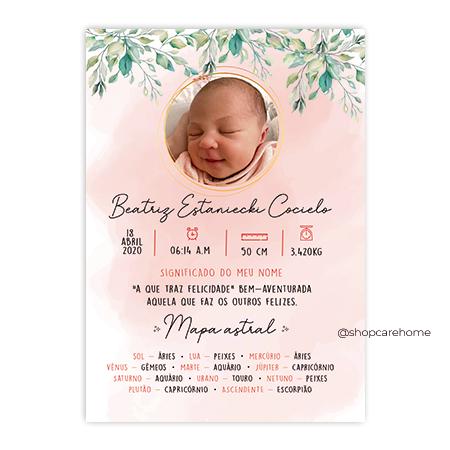 Quadro Baby - Beatriz Personalizado