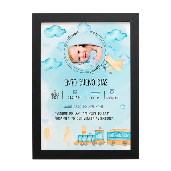 Quadro Baby - Enzo II - Personalizado