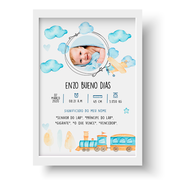 Quadro Baby - Enzo - Personalizado