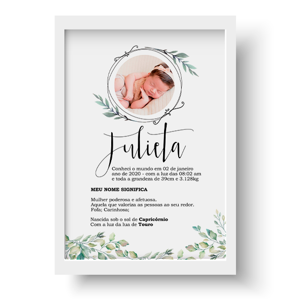 Quadro Baby - Julieta - Personalizado