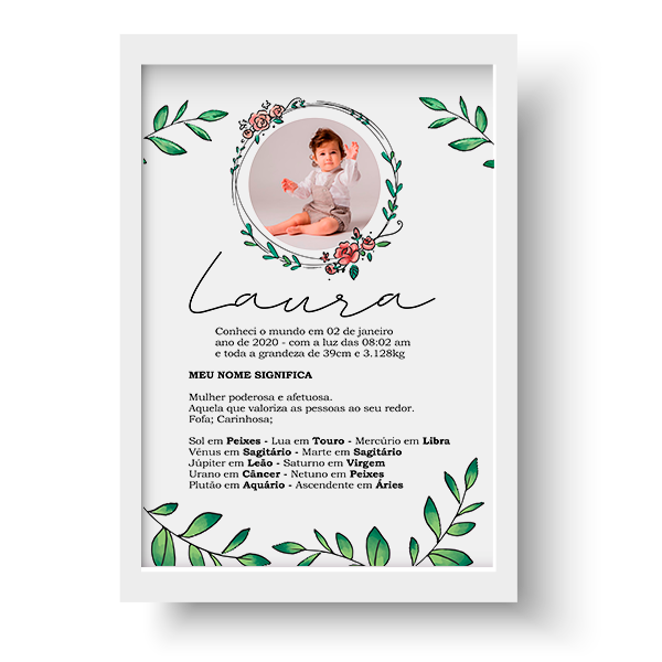 Quadro Baby - Laura - Personalizado