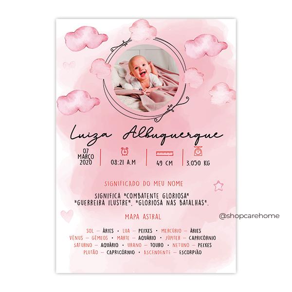 Quadro Baby -Luíza Personalizado