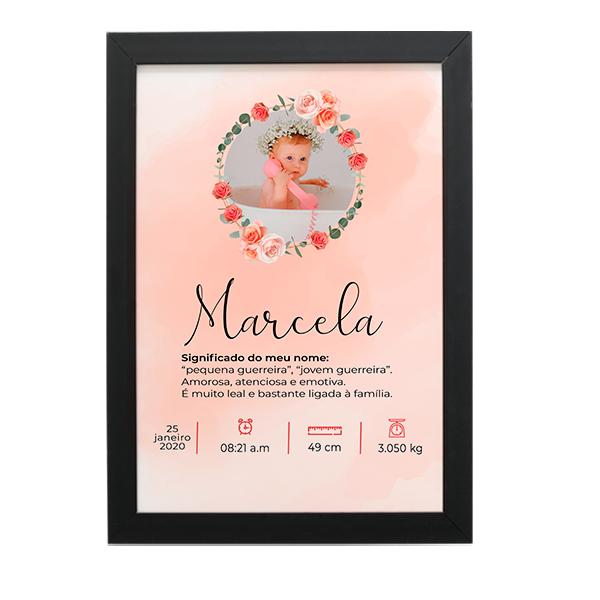 Quadro Baby - Marcela - Personalizado