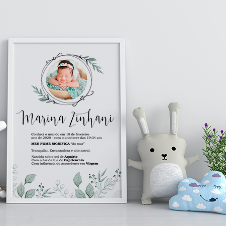 Quadro Baby -Marina - Personalizado