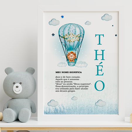 Quadro Baby - Theo - Personalizado