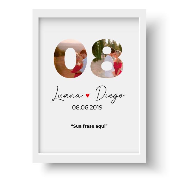 Quadro Casal - Nosso dia Personalizado