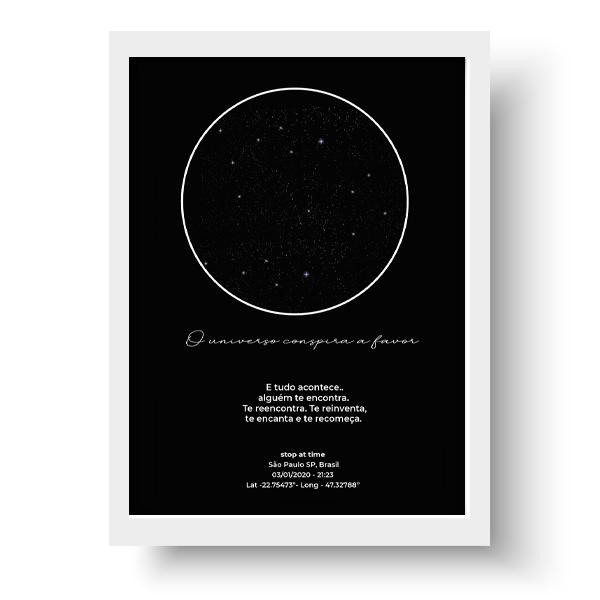 Quadro Mapa do céu - Estrelas