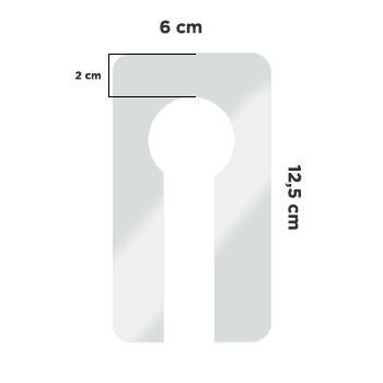 Separador de cabides acrílico - Kit com 5 unidades - Shopcare