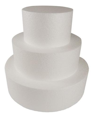Base Isopor Bolo Fake 20x25x30 C/10cm Espessura Maciço- 5 Un