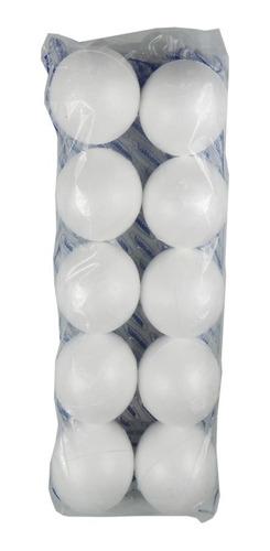 Bola De Isopor 10cm (100mm) - 60 Unidades Maciças Artesanato