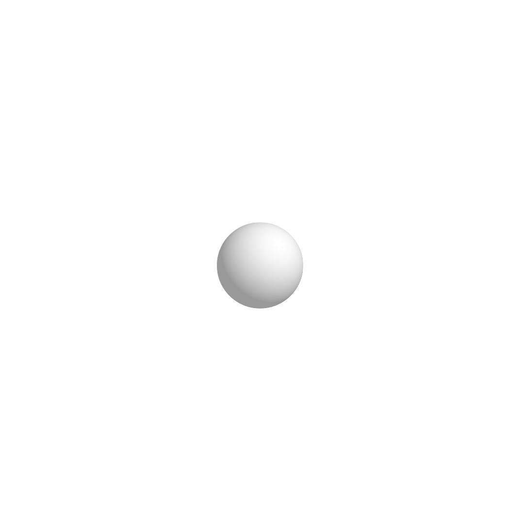 Bola De Isopor 2,5cm (25mm) Diâmetro Compacta
