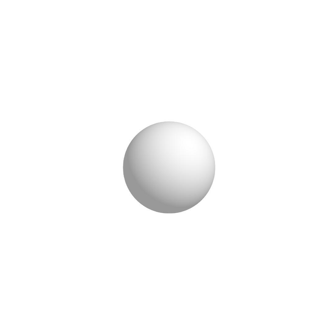 Bola De Isopor 6cm (60mm) Diâmetro Compacta