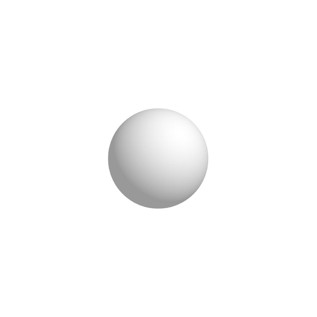Bola De Isopor 7cm (70mm) Diâmetro Compacta