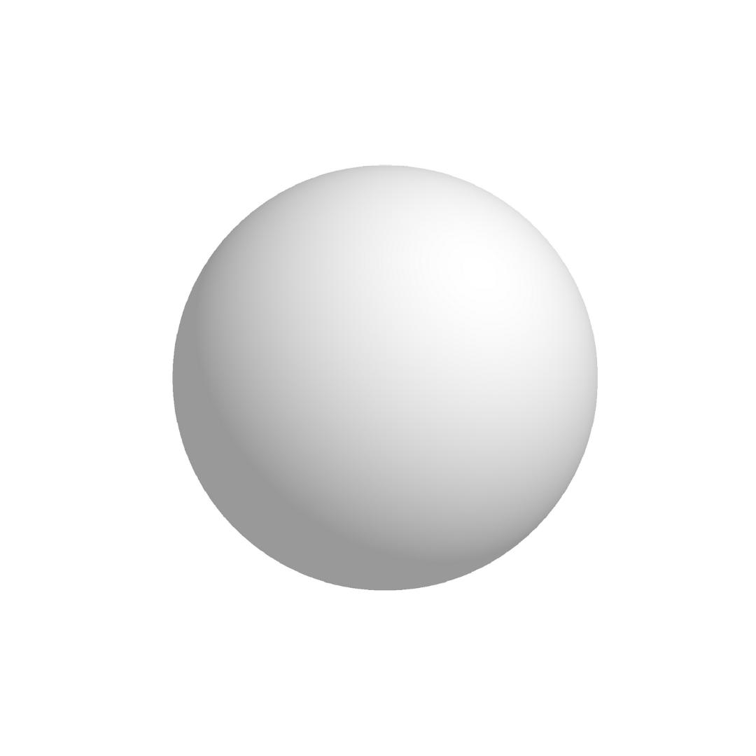 Bola De Isopor Maciça 12,5cm (125mm) Diâmetro