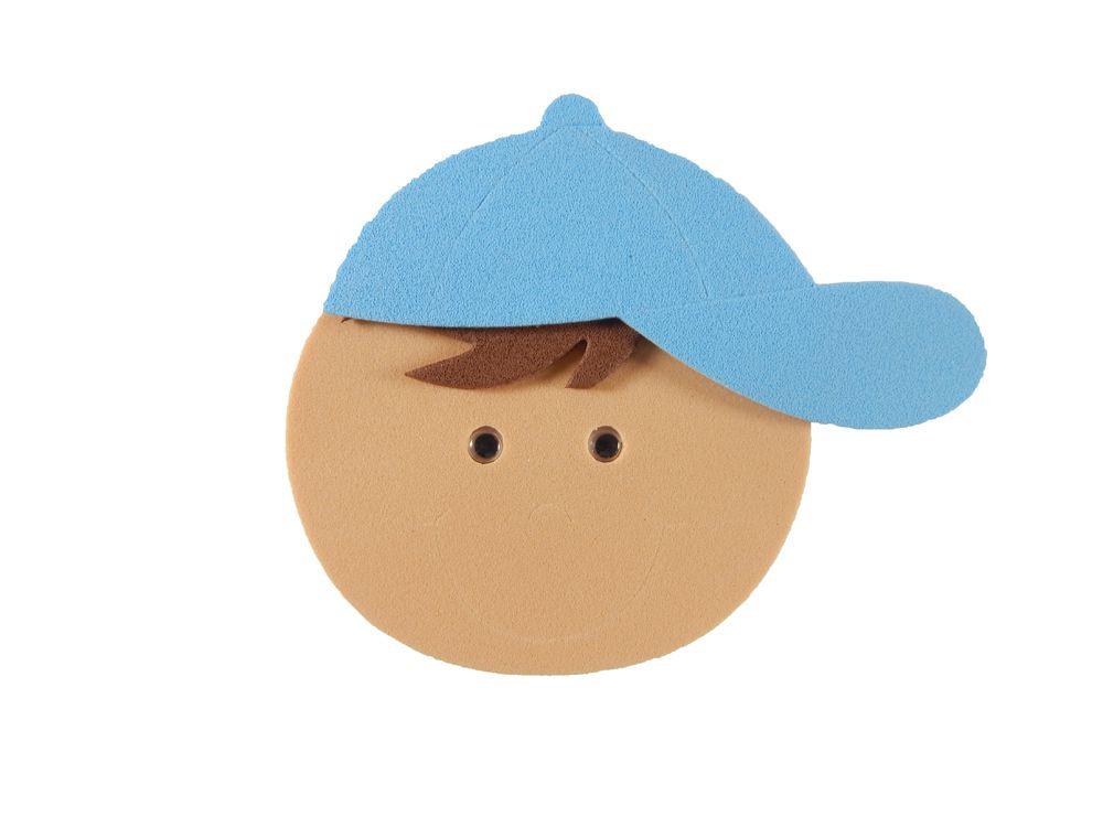 Carinha EVA Menino Bolinha Boné Azul