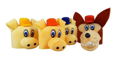Chapéu Espuma 3 Porquinhos E Lobo Mau Marrom Anúncio com variação