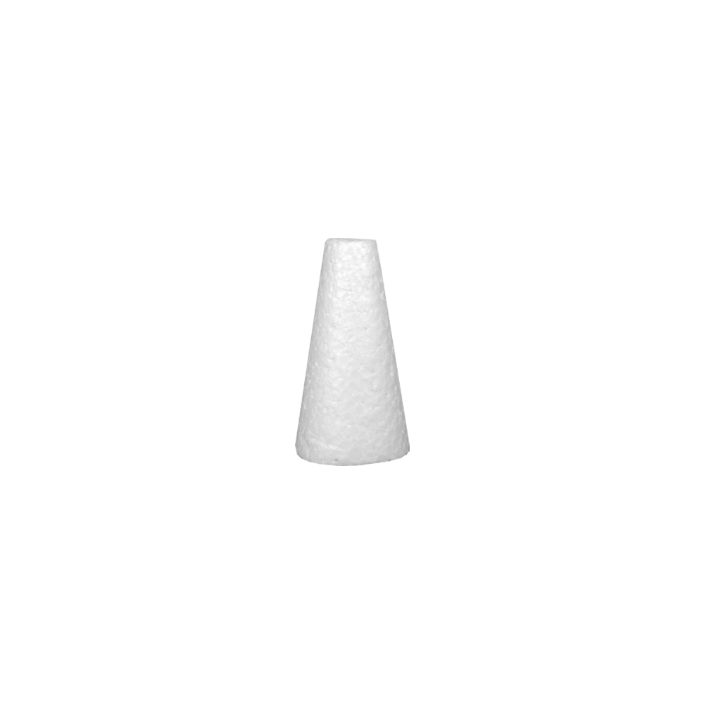 Cone em Isopor 12cm altura x 6,5cm base