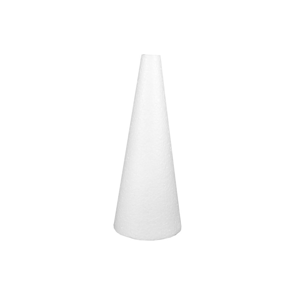 Cone em Isopor 30cm altura x 12cm base