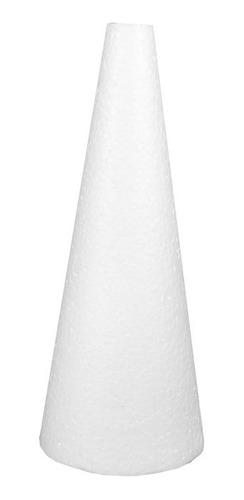 Cone Em Isopor 30x12cm Pacote Com 3 Unidades