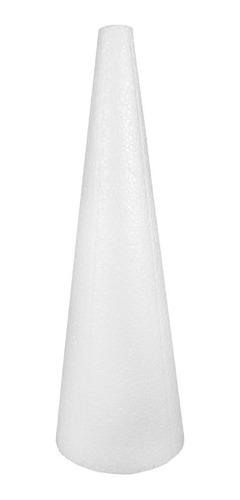 Cone Em Isopor 50x17cm Pacote Com 2 Unidades