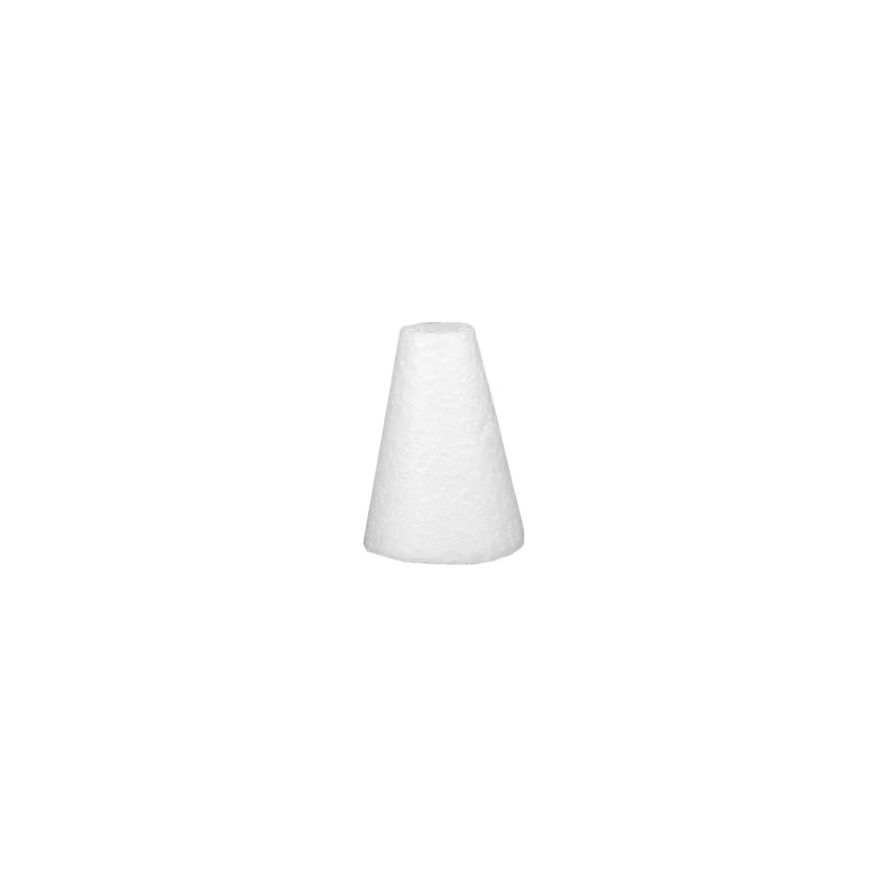 Cone em isopor 9,5cm altura x 6,5cm base